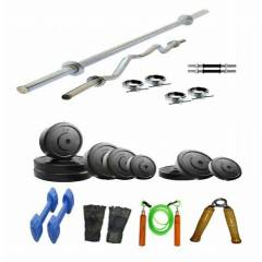 Arnav Combo of 22kg Plates & 7 Accessories Home Gym, OSB-700512