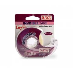 Saya Invisible Tape with Dispenser, Dimensions: 95 x 100 x 25 mm (Pack of 6)