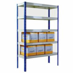 5 Layer Slotted Angle Boltless Shelving, Depth: 450 mm
