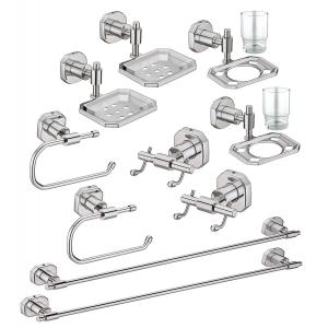 Jovial 100-2 Classy Stainless Steel Glossy Finish Bathroom Accessories Set