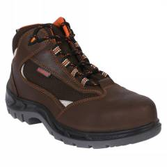 Karam FS 65 Steel Toe Brown Sports Safety Shoes, Size: 5