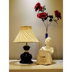 Tucasa Table Lamp with Pleated Shade, LG-446, Weight: 450 g