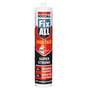 Mccoy Soudal 290ml Fix all High Tack Sealant Cartridge (Pack of 3)