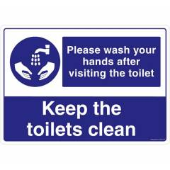 Safety Sign Store Please Wash Your Hands After Visiting the toilet Sign Board, FS626-A3AL-01