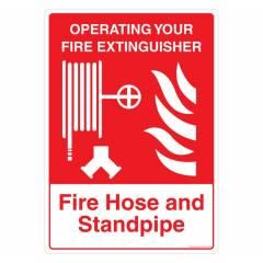 Safety Sign Store Fire Hose & Stand Pipe Sign Board, FE402-A4PC-01