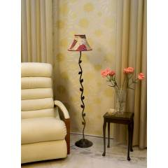 Tucasa Leaf Floor Lamp with Poly Silk Shade, LG-580, Weight: 1100 g