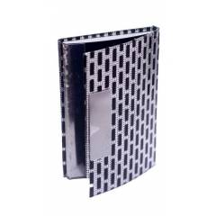 Heady Daddy Business Visiting, Debit, Credit & ATM Leather & Metal Case Silver Card Holder