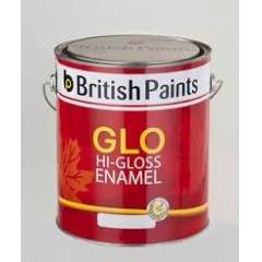 British Paints Glo Hi-Gloss Synthetic Enamel GR-IV, 4 Litre, Vanila Cream