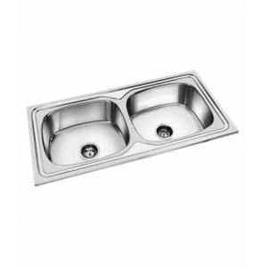 Steel Craft Double Bowl Stainless Steel Kitchen Sink, 32x18x7 Inch