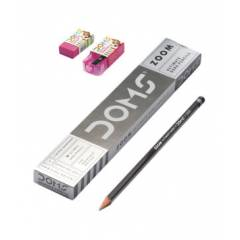 Doms Zoom Round Shape Pencils (Pack of 10)