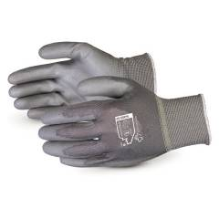 Sunlong PU Coated Black Safety Gloves, Size: XL