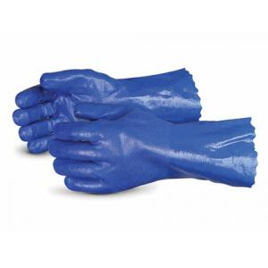 Ufo Vibration Dampening Supported Chemical Resistant Blue PVC Safety Gloves, Size: XL