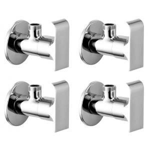 Snowbell Swift Brass Chrome Plated Angle Faucet (Pack of 4)