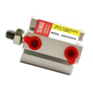 Techno 63x80mm SDA Male-Female Non Magnetic Double Acting Cylinder