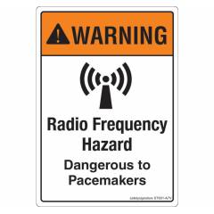 Safety Sign Store Warning: Radio Frequency Hazard Sign Board, ST601-A7V-01, (Pack of 10)