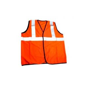 Men Safe Orange Safety Jacket, Tape Size: 2 inch (Pack of 5)