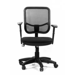 Regent Seating Collection Black Net Square Mesh Chair