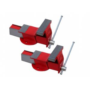 TRUST 5 Inch Steel Fixed Base Bench Vice (Pack of 2)