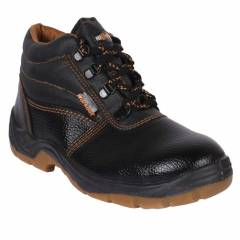 Hillson Workout High Ankle Steel Toe Black Safety Shoes, Size: 8