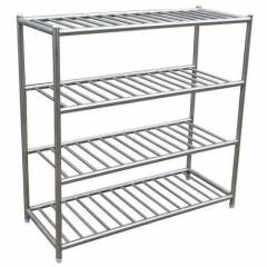 Galaxy 48 Inch Stainless Steel Bag Storage Silver Tubular Rack