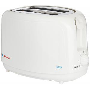 Bajaj 750W ATX 4 White Pop Up Toaster