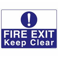 Safety Sign Store Fire Exit, Keep Clear Sign Board, FS637-A4PC-01