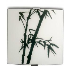 Philips QDS306 60W White Bamboo Square Wall Light (Pack of 2)