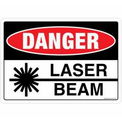 Safety Sign Store Danger: Laser beam Sign Board, SS126-A3PC-01