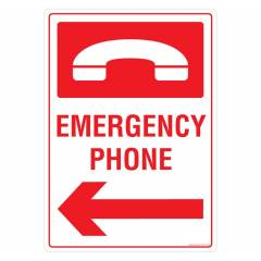 Safety Sign Store Emergency Phone Sign Board, PS106-A3V-01