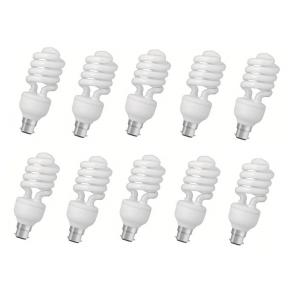 Crompton 25W B-22 Spiral DF CFL Cool Day Light (Pack of 10)