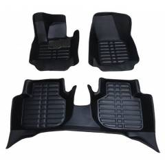Oscar 5D Black Foot Mat For Maruti Suzuki Omni (Pack of 6)