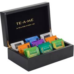 TE-A-ME 72 Tea Bags Collection with Wooden Chestlet