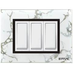 B-Five Marvel 8 Module Horizontal Cover Plate, B-067M (Pack of 10)