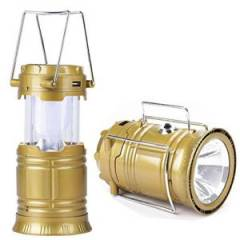 Homepro Golden Solar Rechargeable Lantern (Pack of 2)
