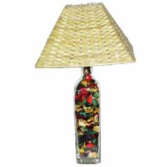 Aadhya Creations GL Colour Leafy Square Bamboo Table Lamp, AC13BL042