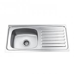Jayna Jupiter SBSD 02 (RR) Matt Sink With Drain Board, Size: 37 x 18 in