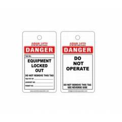 Asian Loto Do Not Operate Lock Out Tag, ALC-OSPL-W (Pack of 10)