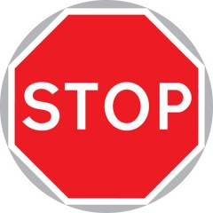 Asian Loto 3 mm Asian Stop Sign Reflective Board Traffic Sign , ALC-SGN-39-900