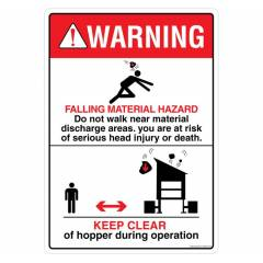 Safety Sign Store Warning: Falling Material Hazard Sign Board, DS409-A4V-01