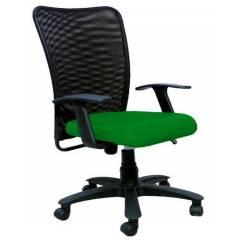 R P Enterprises Sapphire Medium Back Green Office Chair, Dimensions: 45x48x60 cm
