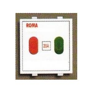 Anchor Roma White 20A Motor Starter Switch, 20427, (Pack Of 10)