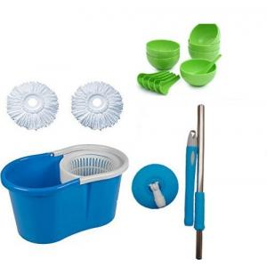 GTC 360 Degree Easy Magic Mop with 2 Microfiber Heads