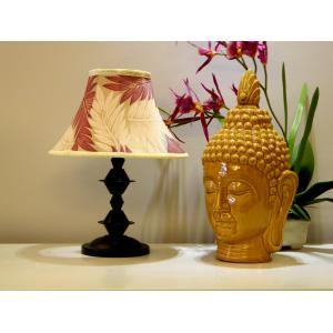 Tucasa Table Lamp with Poly Silk Shade, LG-332, Weight: 550 g