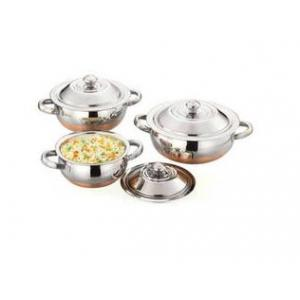 Airan 3000ml Stainless Steel Copper Base Serving Bowl Set