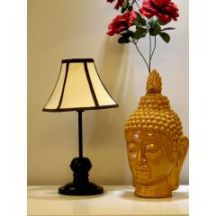 Tucasa Table Lamp with Stripe Shade, LG-381, Weight: 550 g