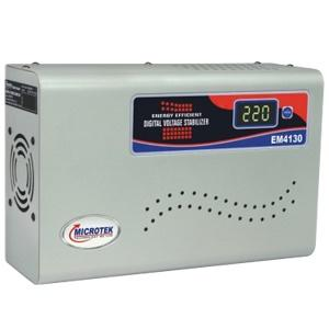 Microtek EM 4130+ Digital Voltage Stabilizer for Upto 1.5 ton AC