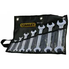 Stanley 7 Pieces Imperial Double Open End Wrench Set, 1-87-712