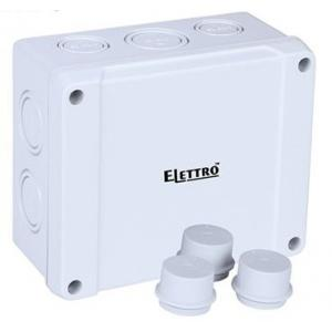 Elettro ET-9060 PVC Junction Box, Size: 139x119x70 mm