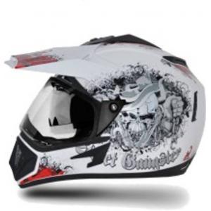 Vega Off Road Gangster Motocross White Red Helmet, Size (Large, 600 mm)