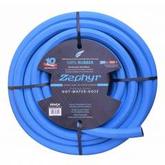 Zephyr 3/4 Inch Ultra Light Flexible Rubber Garden Hose with No Fitting, Length: 100 ft